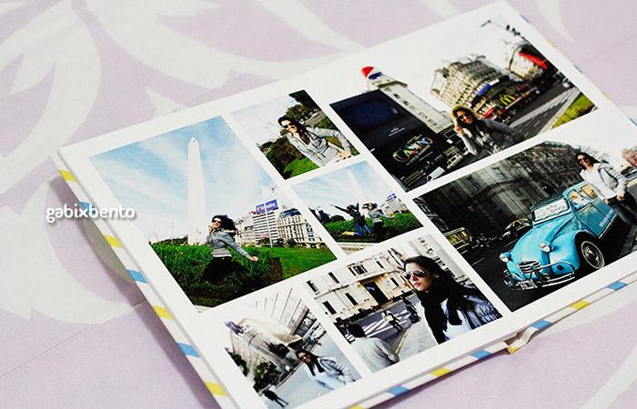 Álbum de fotos de viagens personalizado