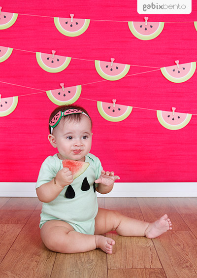 Smash the fruit em Fortaleza - Ensaio de fotos 1 aninho do bebê