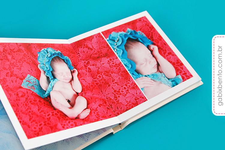 Álbum Newborn 20x20cm - Fotografia de recém nascidos - encadernado no acabamento panorâmico luxo 3