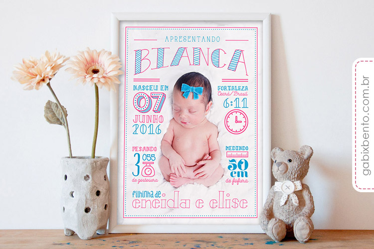 Poster infantil personalizado Newborn