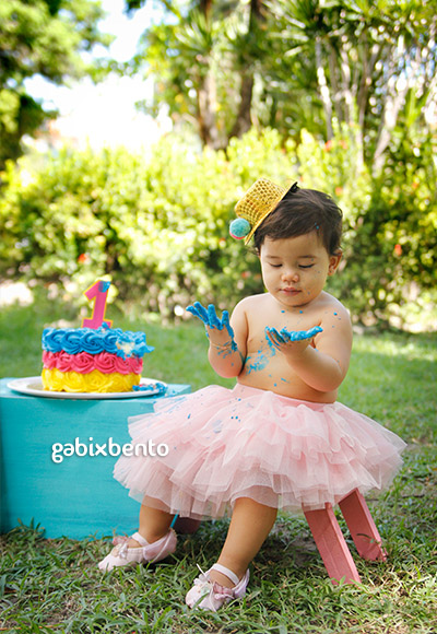 Ensaio fotografico smash the cake Fortaleza