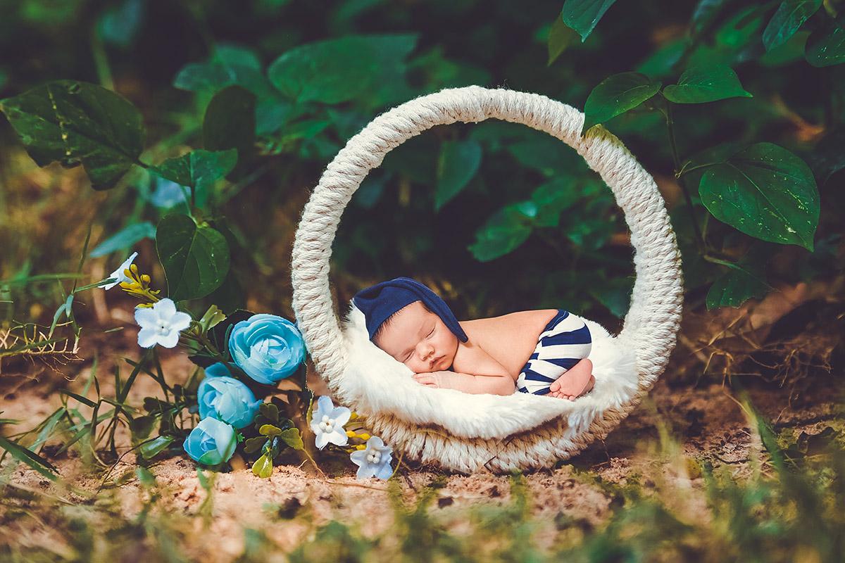 Projeto fotográfico com bebês