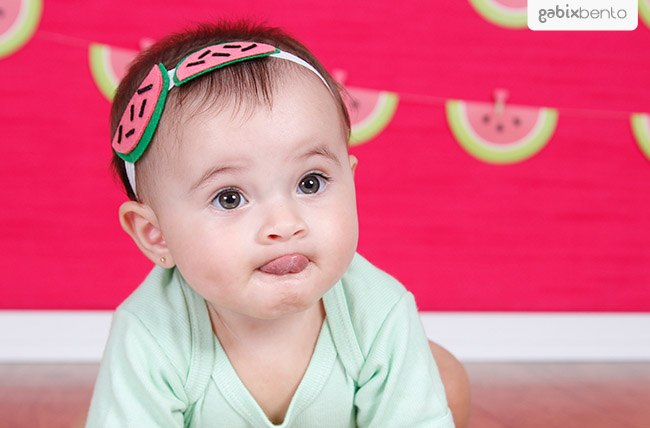 Smash the fruit em Fortaleza - Ensaio de fotos 1 aninho do bebe