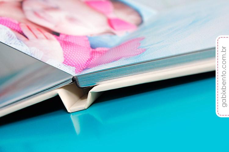Álbum Newborn 20x20cm - Fotografia de recém nascidos - encadernado no acabamento panorâmico luxo 2