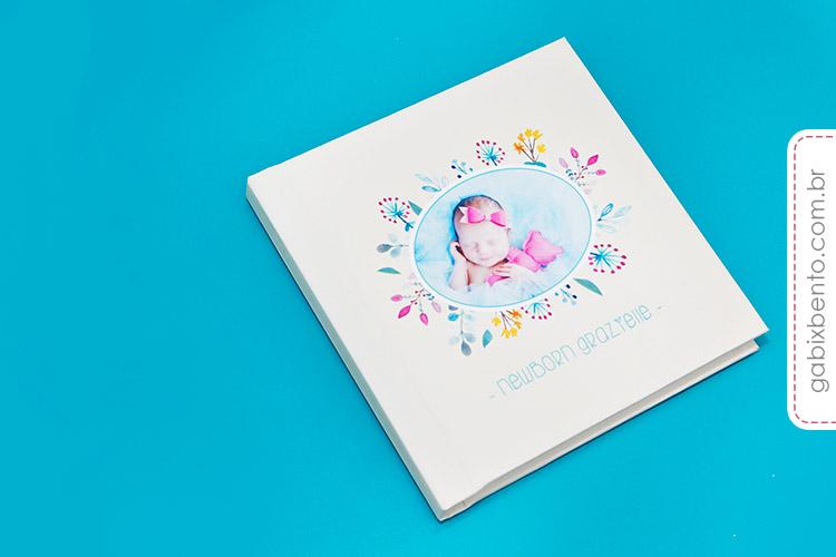 Álbum Newborn 20x20cm - Fotografia de recém nascidos - encadernado no acabamento panorâmico luxo 5